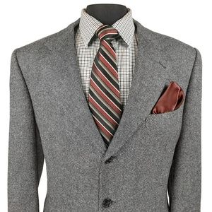 Corneliani Small Check Gray Blazer Sport Coat
